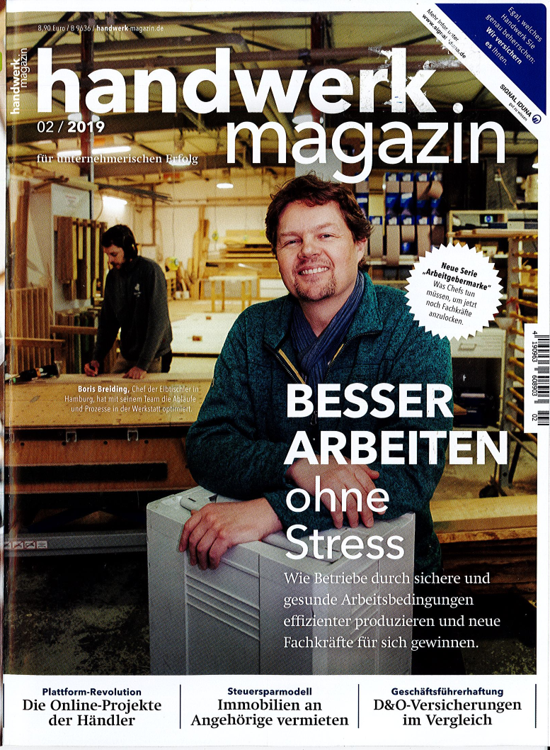 Cover Handwerk-Magazin Feb. 2019